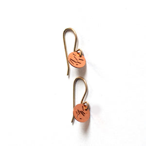 Jessica Jubb -  'Dot Pollen' Copper Earrings (jju009)