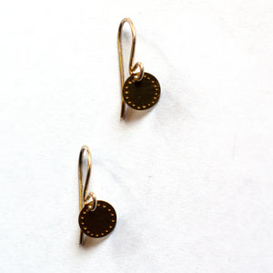 Jessica Jubb -  'Dot Blossom' Brass Earrings (jju008)