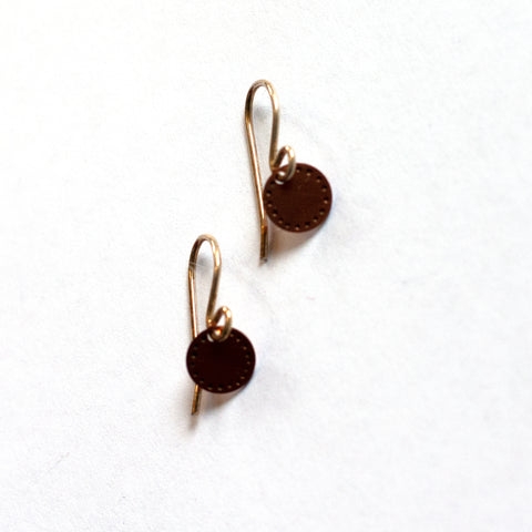 Jessica Jubb -  'Dot Blossom' Copper Earrings (jju007)