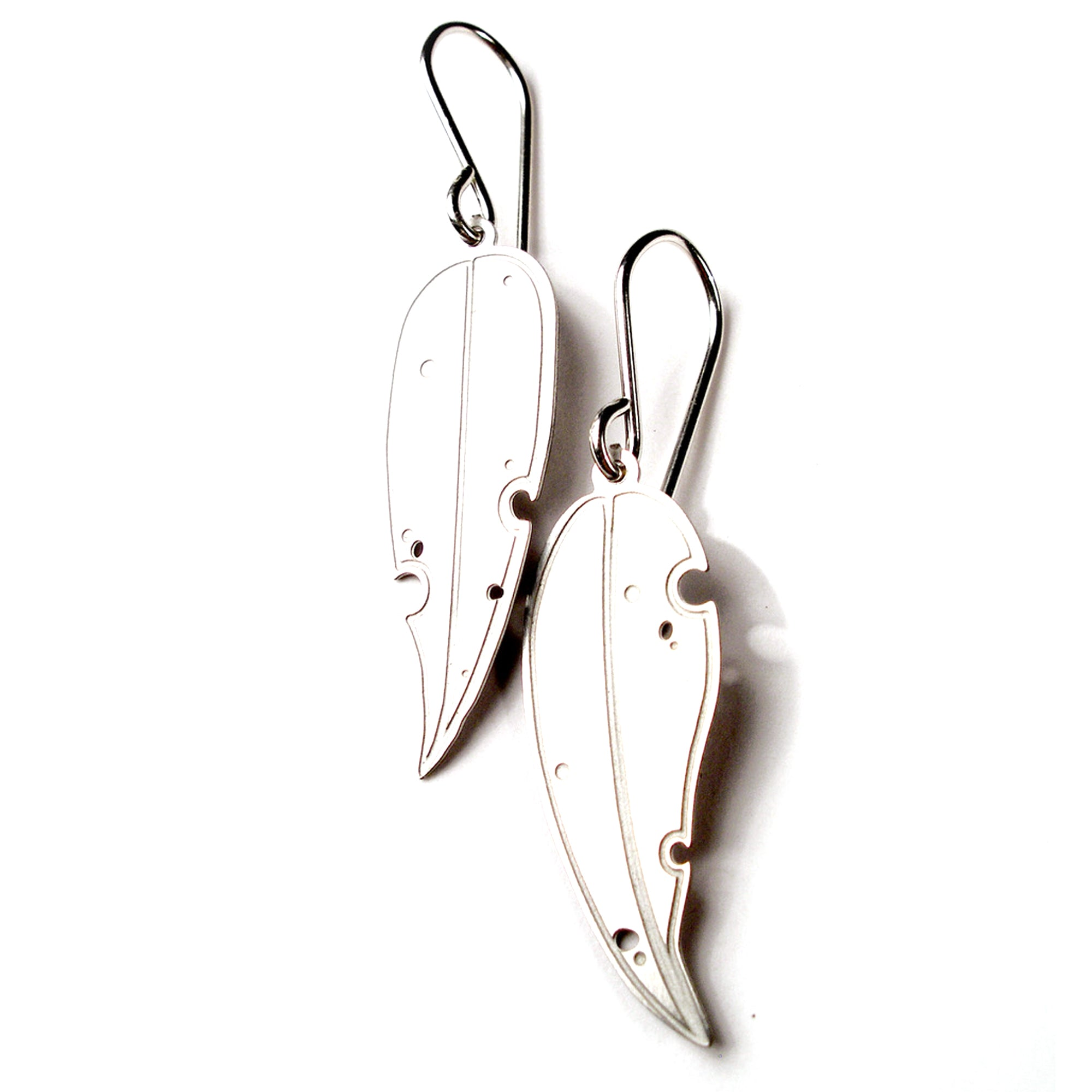 Jessica Jubb - Etched 'Eucalyptus' Steel Earrings (jju029)