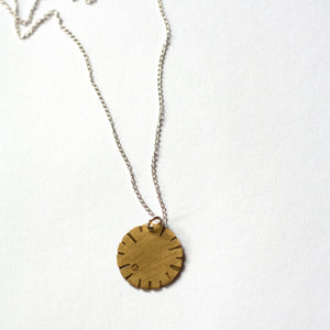 Jessica Jubb -  'Disk Bloom' Brass Necklace (jju030)