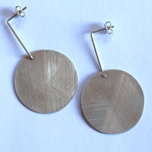 Kake -  Solid Drop Disk Earrings (kake060)