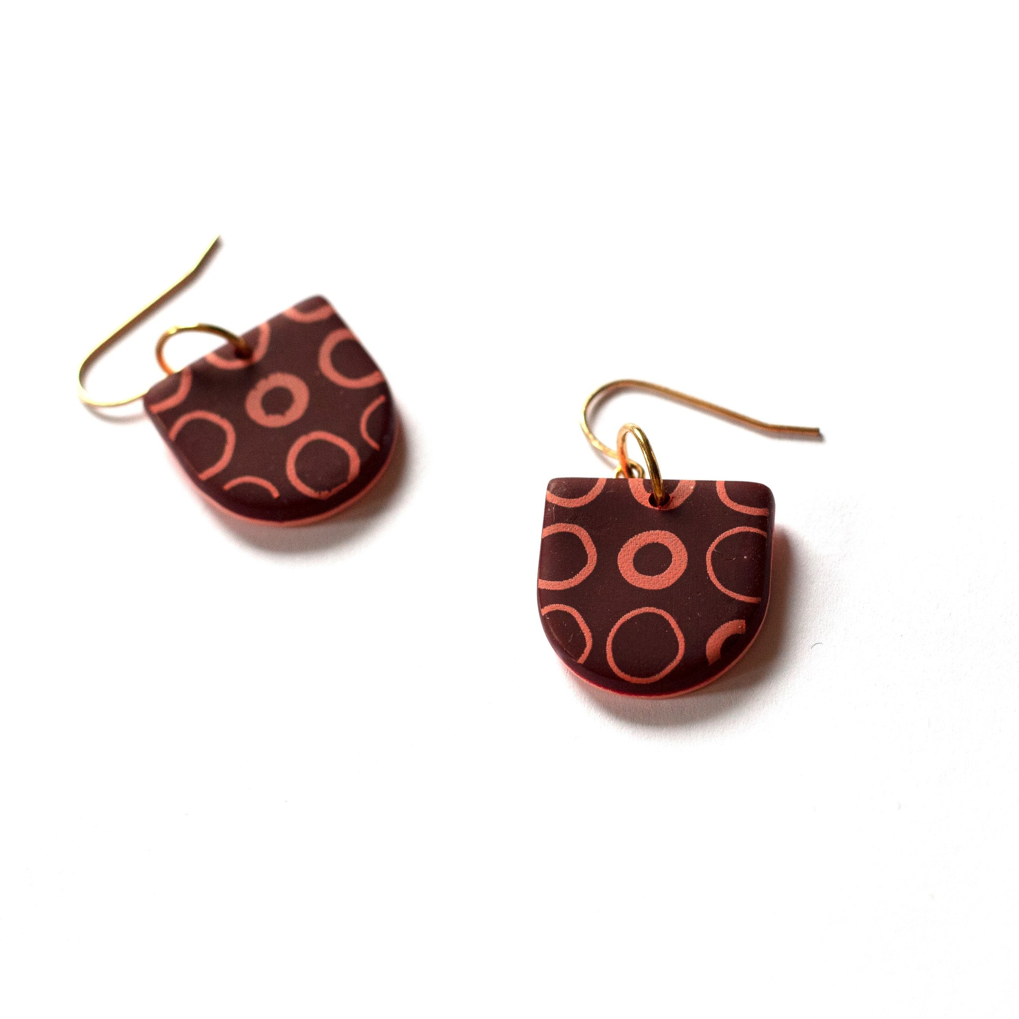 Clay Pigeon - Polymer Clay Large Arch Drops (ksta52)