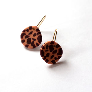 Clay Pigeon - Polymer Clay and Brass Drop Earrings (ksta57)