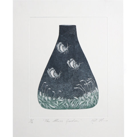 Kati Thamo - 'The Moss Garden' 4/16, Etching (kth035)