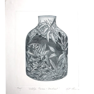 Kati Thamo - 'Wildlife Preserve - Bandicoot' Artists Proof, Etching (kth039)