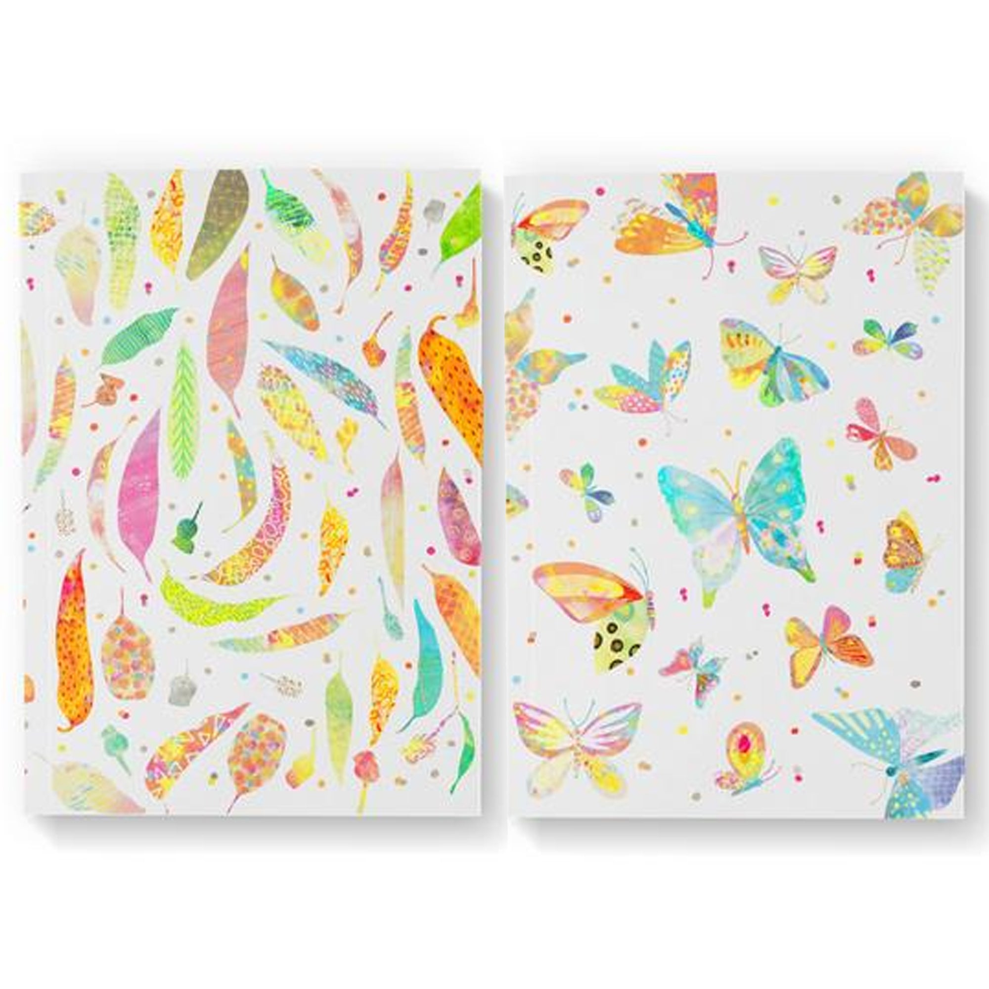 Braw Paper Co. - Gum Leaves and Butterflies Blank Pack of 2 Notebooks (tri034)