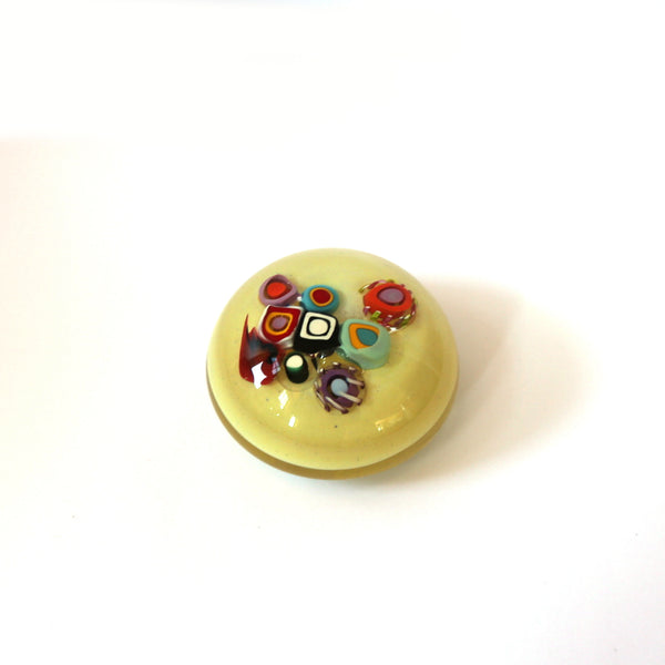Laurie Fossier-Mills - Murrine Polished Paperweight (lfm003)