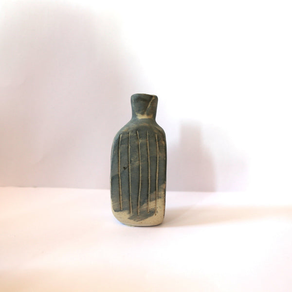 Patricia Hines - Medium Hand Formed Water Tight Clay Bottle (phi061)