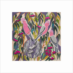 Helen Ansell -  'Pink and Grey Gallah's'  Giclee Print (han024)