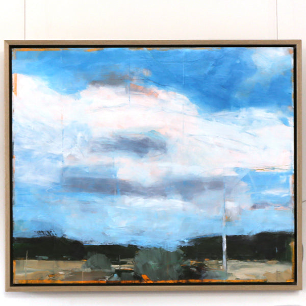 Ric Burkitt - 'Old Power Pole' Framed Oil on Canvas (rbur011)