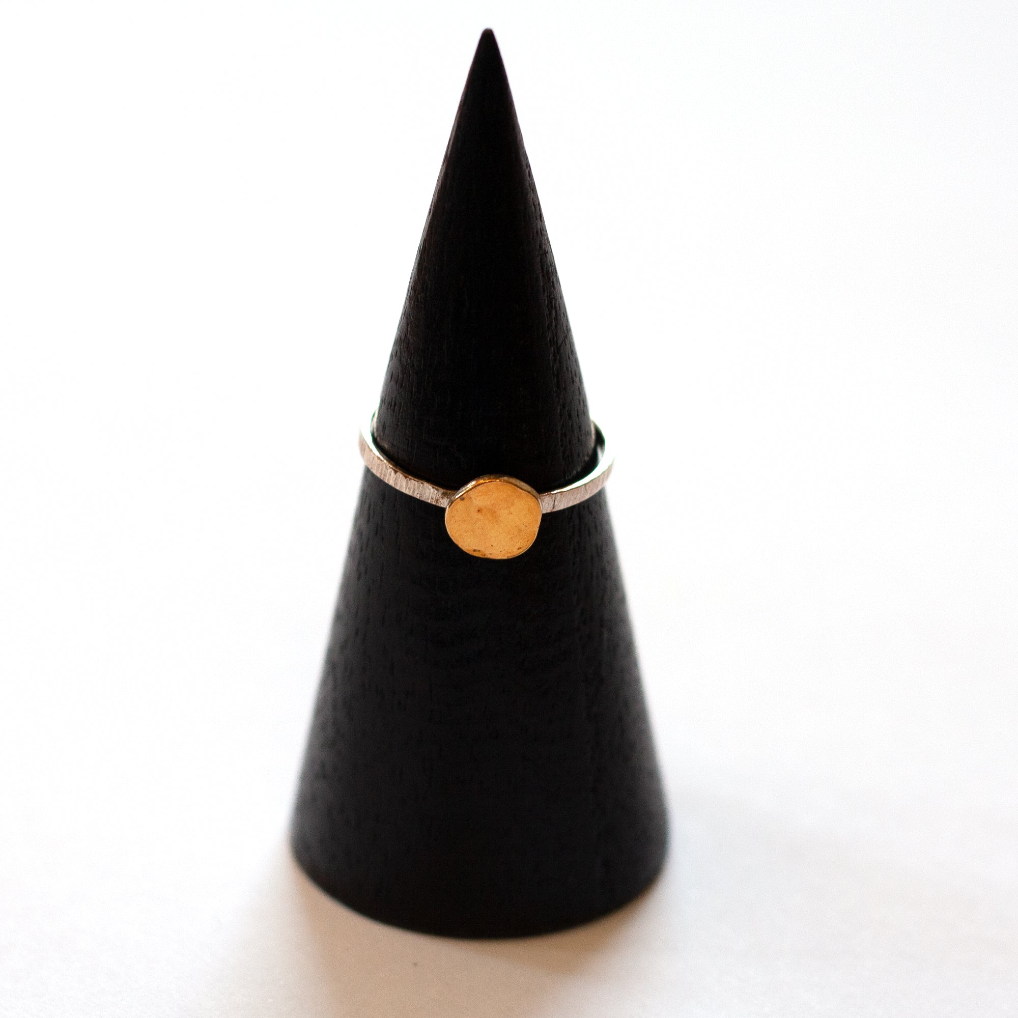 Ruth Casey - Keum 24ct Gold and Sterling Silver Stacker Ring (rca025)