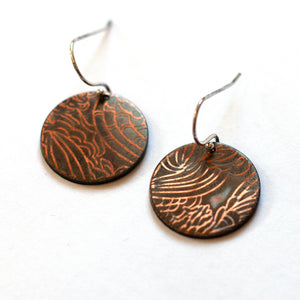 Ruth Casey - Sterling Silver Copper Earrings (rca044)