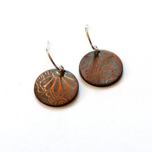 Ruth Casey - Sterling Silver Copper Earrings (rca046)