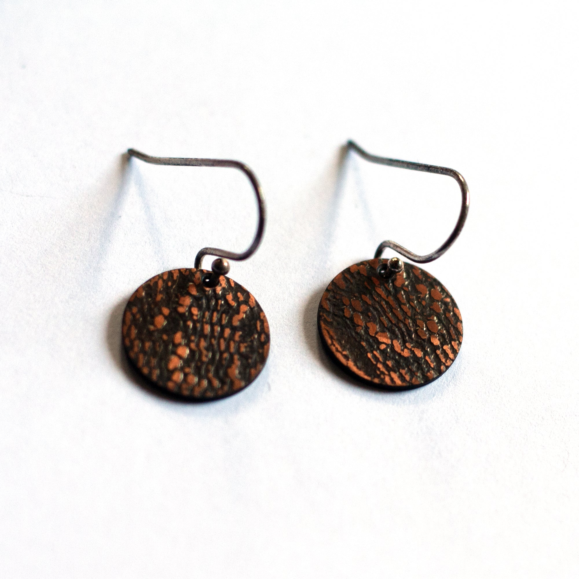 Ruth Casey - Sterling Silver Copper Earrings (rca048)
