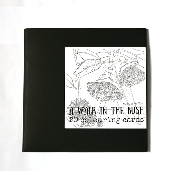 Ruth de Vos - 'A Walk In The Bush' Colouring Cards (rde012)