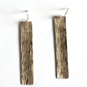 Ren Masetti - Sterling Silver Long Rectangle Earrings (rma067)