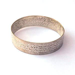 "Ren Masetti - Sterling Silver Bangle ""Textured"" (rma079)"