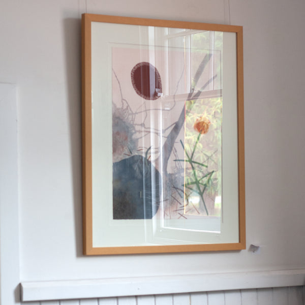 Shelley Cowper -  'Composition 2' Framed Mixed Media  (scow10)