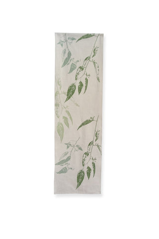 Elwyn Morgan -  'Jarrah Leaf' Green Table Runner (emo019)