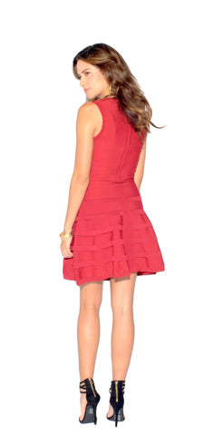 Ruffled Skater Dress
