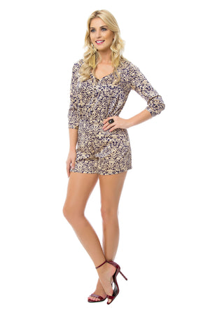 Retro 3/4 Sleeve Romper