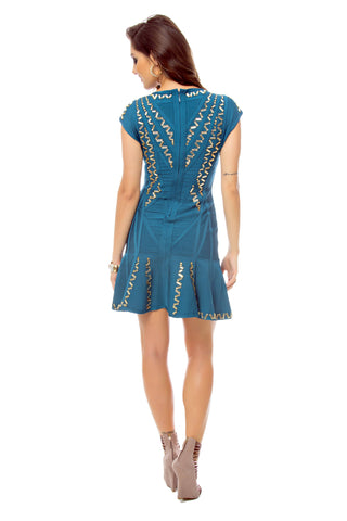 Embellished A-Line Bandage Dress