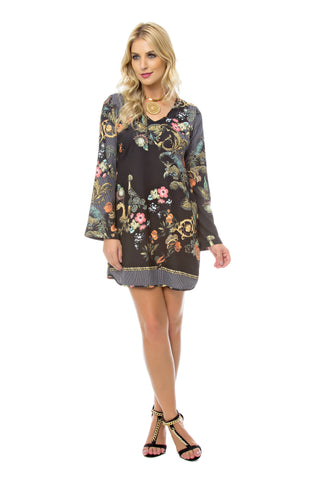 Black Floral Cami Dress