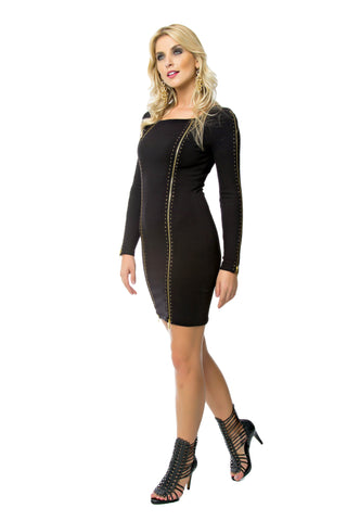 Zip Front Tricot Dress