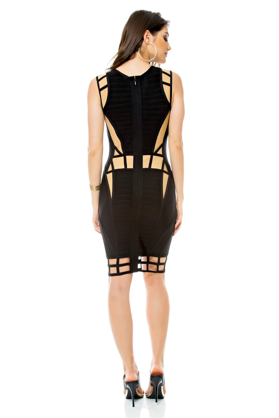 Illusion Bandage Dress