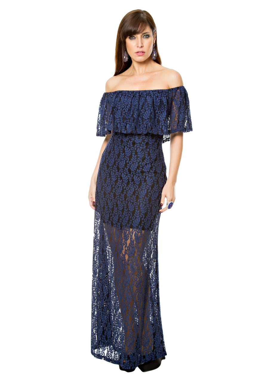 Hera Lace Overlay Dress