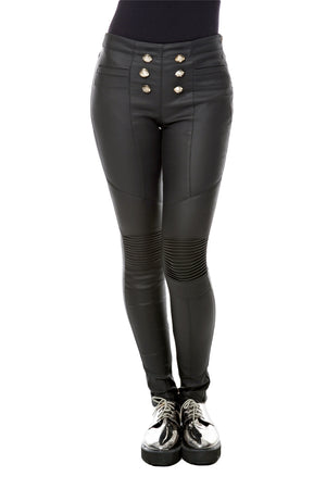 Button Front Leggings
