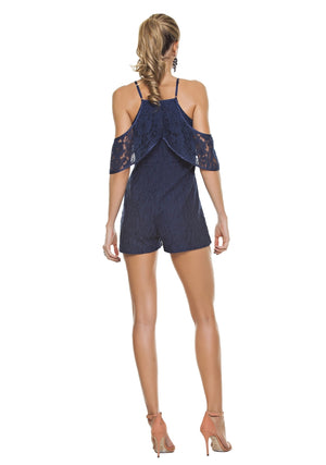 Elegant Cold Shoulder Romper
