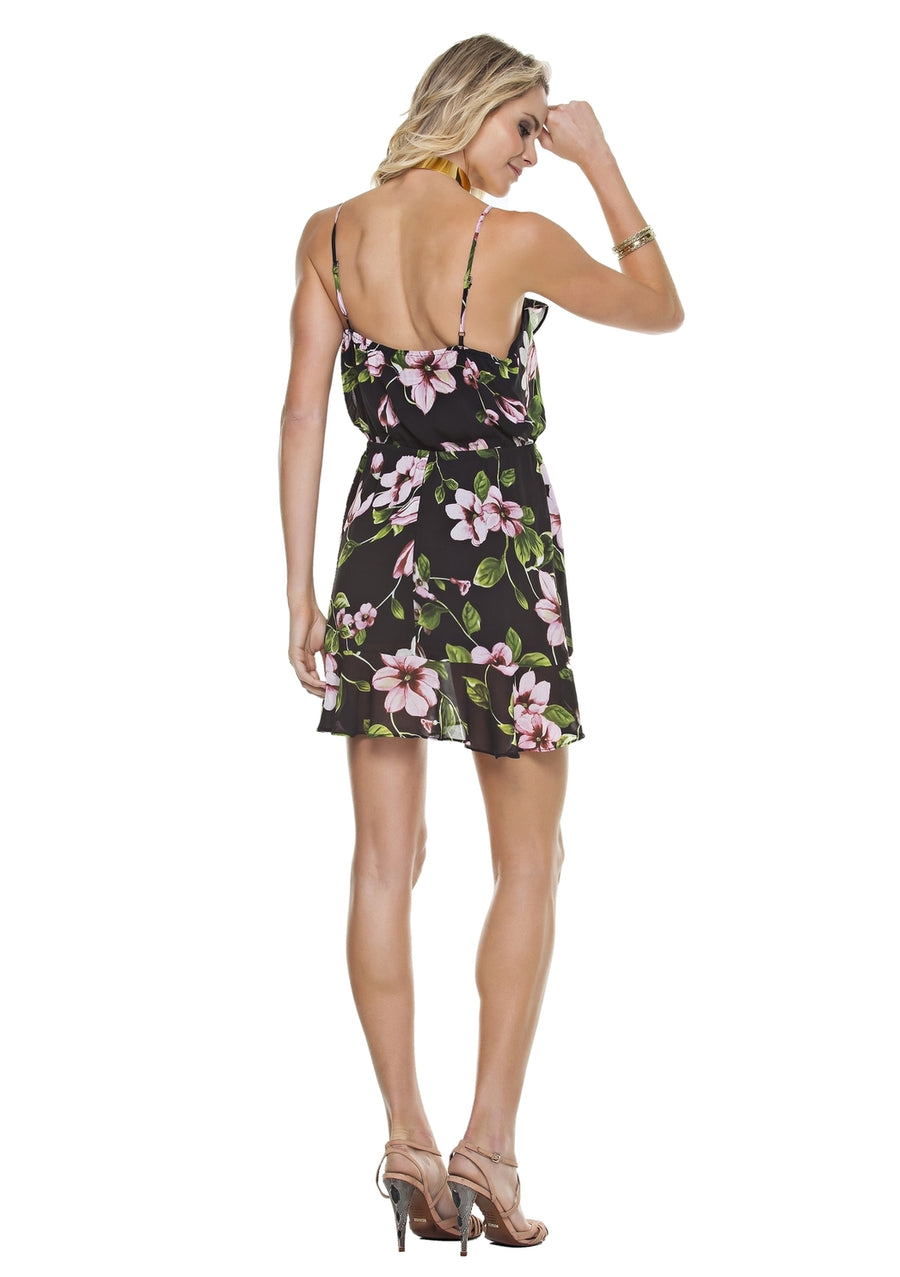 Floral Flounce Dress