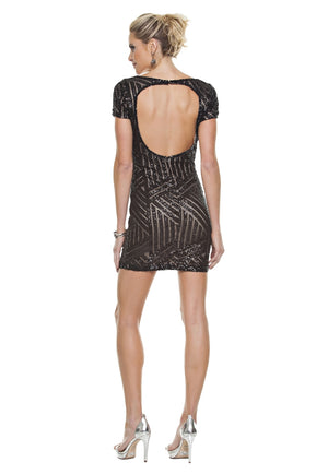 Geo Sequined Dress