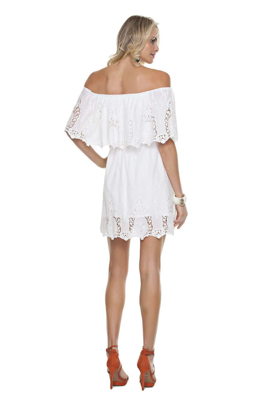 Eyelet Lace Layered Dress