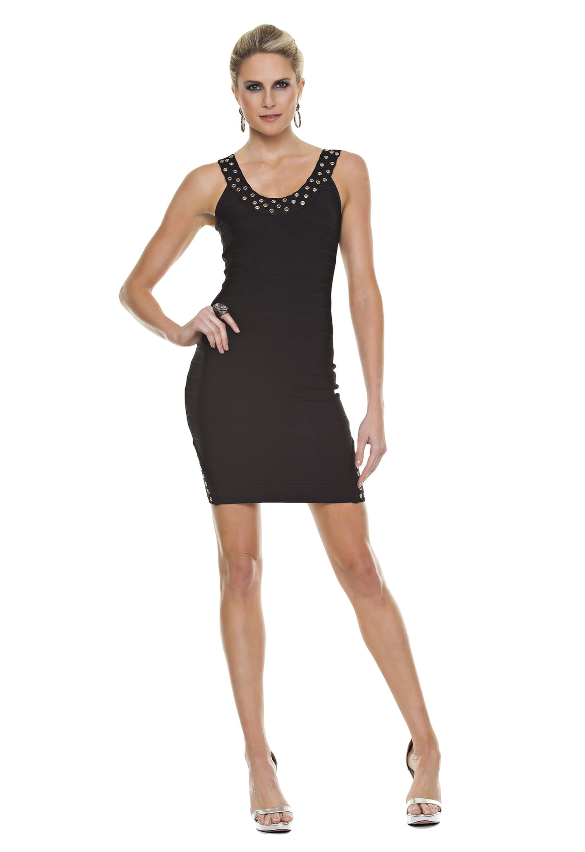 Grommet Bandage Dress
