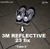 23 fix- 3M Reflective (2 units) / 23 fix - Glow in the dark (2 units) - Best 23 Fix for Jordan 11 - 3