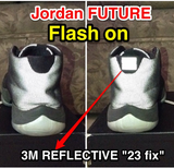 23 fix - 3M Reflective (2 units) - Best 23 Fix for Jordan 11 - 7