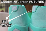 23 fix - 3M Reflective (2 units) - Best 23 Fix for Jordan 11 - 5