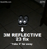 23 fix - 3M Reflective (2 units) - Best 23 Fix for Jordan 11 - 4