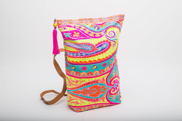Mandala Moon ~ Fold-over Bag