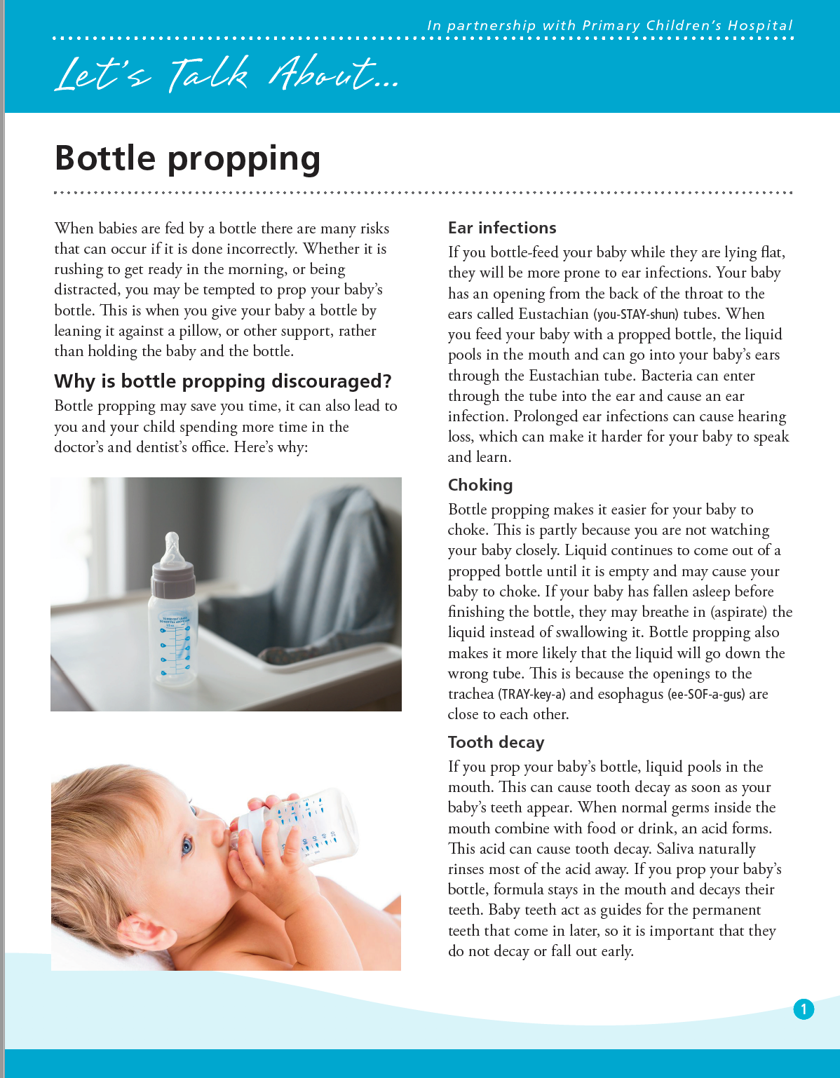 Let's talk about bottle propping