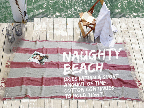 Rustic beach towel - Naughty Linen