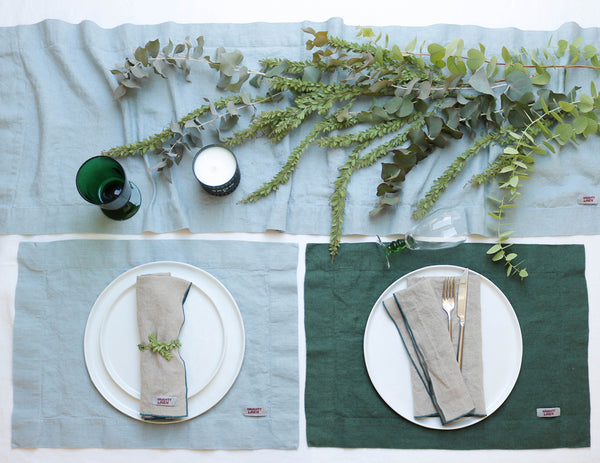 Linen placemat in Pine - Naughty Linen