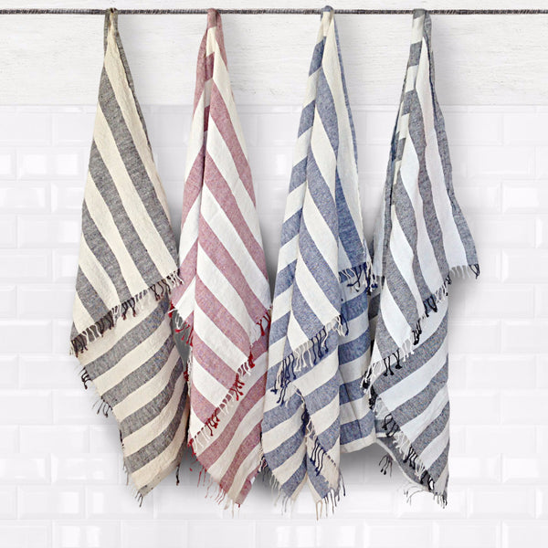 Boho linen beach towel - Naughty Linen