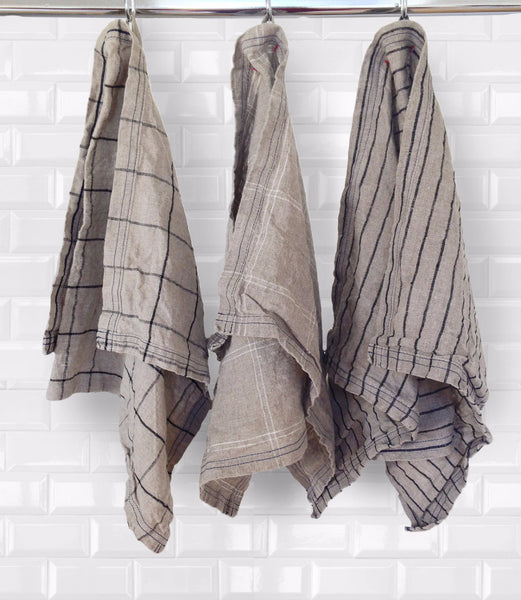 Greyscale kitchen towels - Naughty Linen