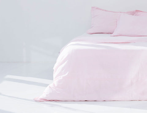 Mix&Match linen duvet cover Rose