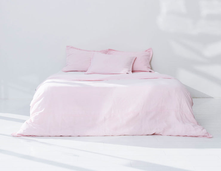 Mix&Match linen duvet cover Rose - Naughty Linen