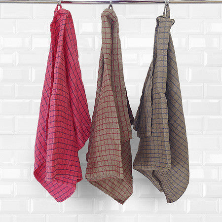 Quadri kitchen towels - Naughty Linen